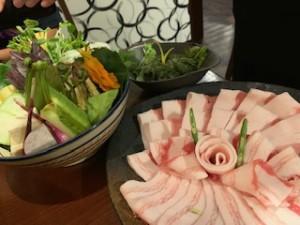 アグー豚と沖縄のお野菜