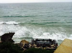バリの海が見えるバー