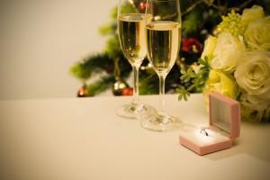クリスマス挙式ロマンチックなムードに