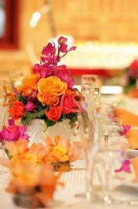 結婚式 お花 装花 高砂 ゲストテーブル ケーキ台 生花