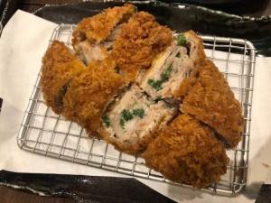 キムカツ定食の選べるフレーバー(ねぎ塩)