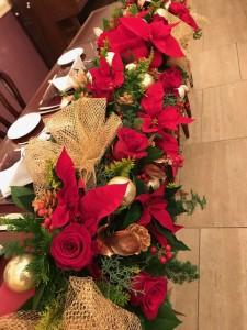 クリスマスの結婚式の会場のお花