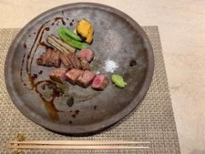 メインの松阪牛のステーキ