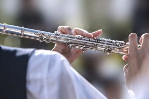 高校時代の部活動で吹奏楽部員としてフルートを担当