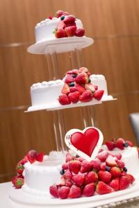 結婚式のウエディングケーキでも「いちご」はとっても人気です②