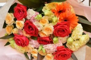 結婚式両親への花束