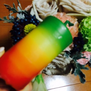 にんじんカラーのキャンドル