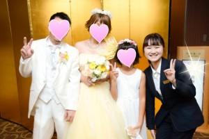 専属ブライダルコーディネーターが結婚式当日もお手伝い♪(ブライダルYASUNAGA)