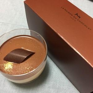 ラ・メゾン・デュ・ショコラというお店のミニカップに入った見た目も可愛いティラミスを買ってしまいました(*^o^*)
