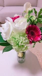 結婚式の高砂テーブルに飾ってあったお花をいただきました\(^o^)/