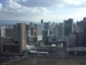 梅田スカイビルから見る大阪マルビル