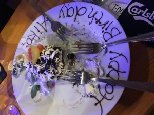お手製のケーキが美味しすぎて写真を撮り忘れました