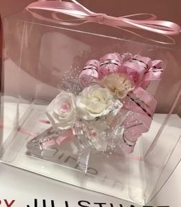 プリザーブドフラワー プレゼント 記念品 ガラスの靴 ピンク