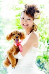 愛犬と一緒の結婚式2