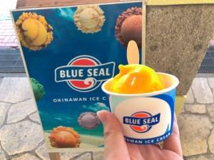沖縄のアイスクリームといえばブルーシール!マンゴー味がオススメ!