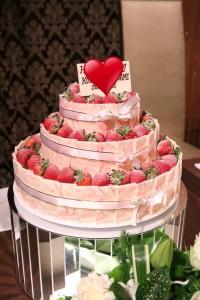 結婚式のウエディングケーキでも「いちご」はとっても人気です③