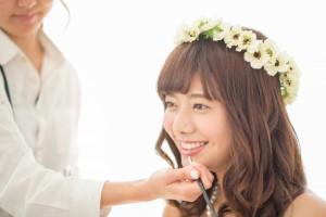 結婚式のリハーサルメイク