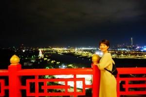 台北市内のランドマークでもあり世界中でも有名なグランドホテル台北(円山大飯店)から見る夜景