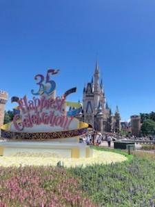 ディズニー35周年シンデレラ城
